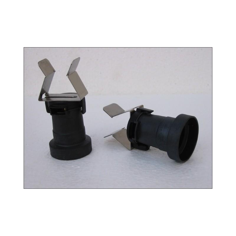 Douille E27 avec clip inox ressort spécial barnum