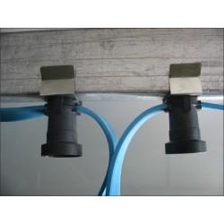 Câble plat avec terre monté avec clips inox et douille/50cm