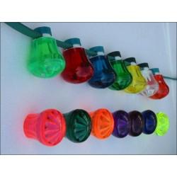Présentation guirlande a cabochons de couleur