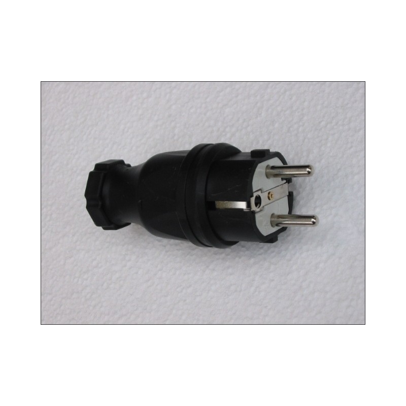 Fiche mâle caoutchouc antichoc IP44 câble 3G2.5 maxi
