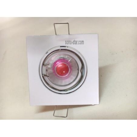 SUPPORT ORIENTABLE LED GU10 A ENCASTRE+LAMPE R4