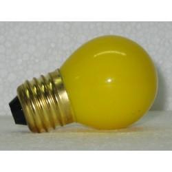 lampe sphérique de couleur jaune 15W E27