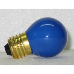 ampe sphérique de couleur bleue 15W E27